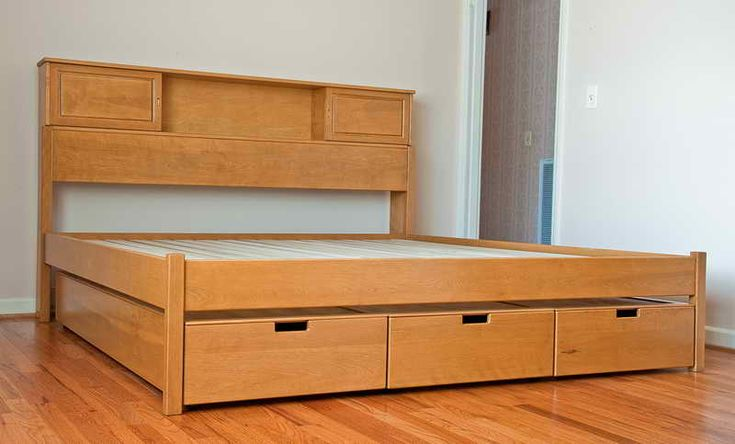 make bed with storage | Tags : cool bed , how to make a bed frame , diy platform bed