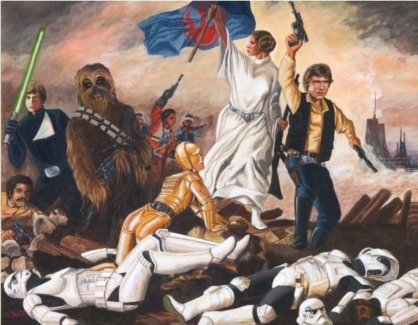 La Libertad Guiando A La Galaxia Juan Carlos Walls La