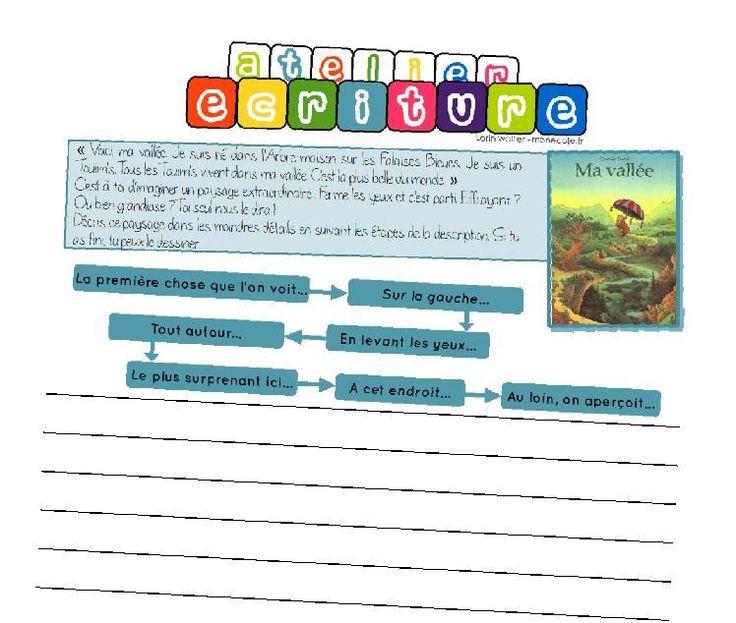 Atelier d'écriture Cet article a pour but de compiler les ateliers d'écriture pour le cycle 3 que je propose aux élèves lors des ateliers hebdomadaires. Le plus souvent possible, ces at…
