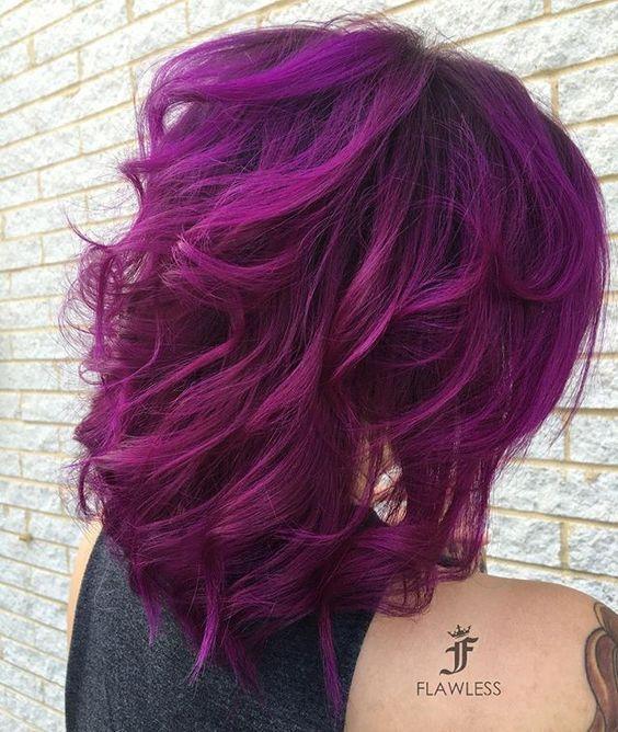 Magenta hair #haircolor