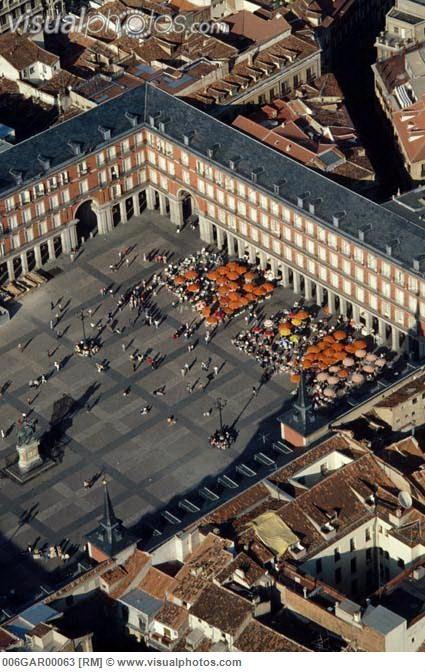 Vista aérea de la Plaza Mayor
