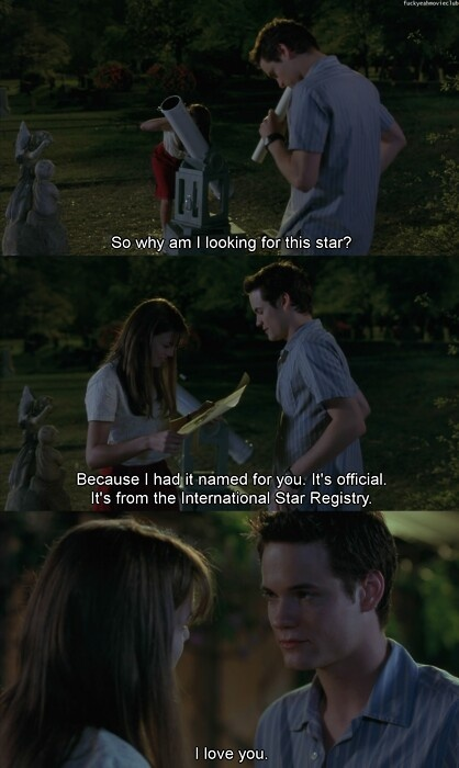 A walk to remember. This movie gets me everytime ♥