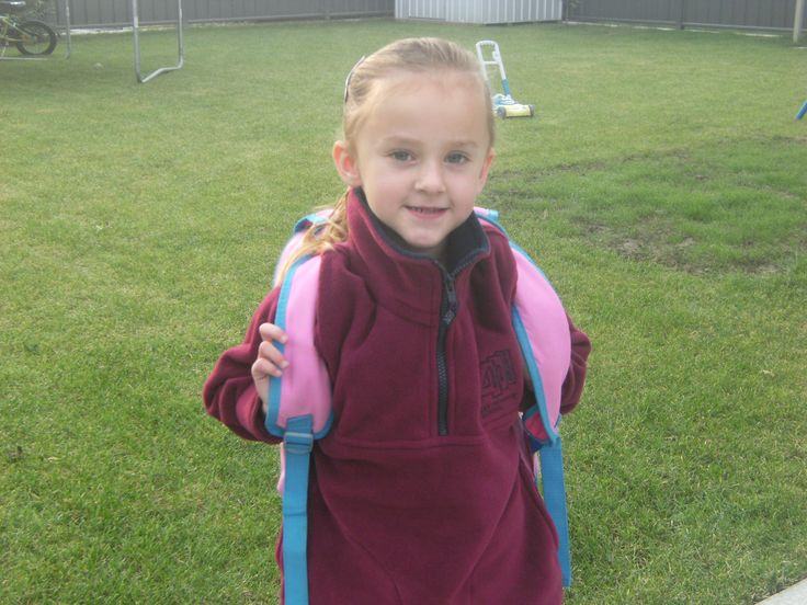 My little sister Neve on her first day of school <3 :)
