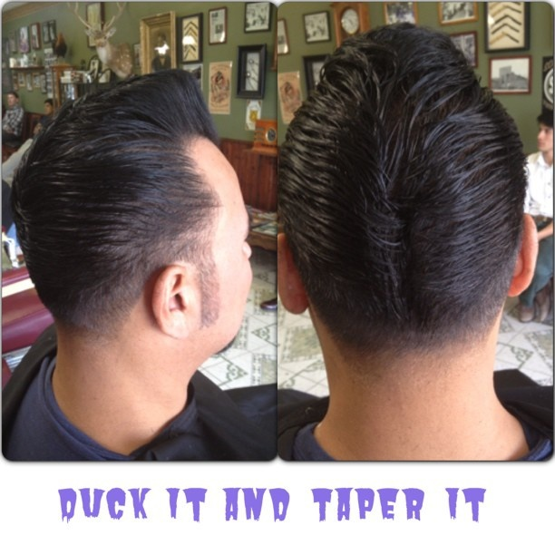ducktail haircut women s ducktails and taper on tom christhebarber chrisfink 2848 | 2d524150a0b5f95068b9f3ba42285ef5