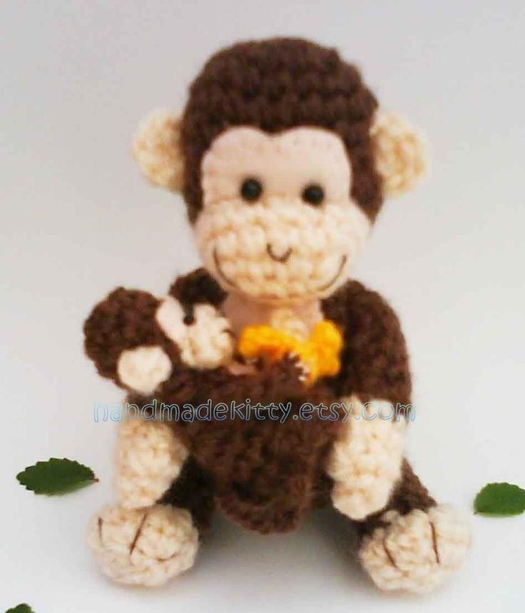 57 besten crochet monkeys Bilder auf Pinterest | Spielzeug, Affen ...
