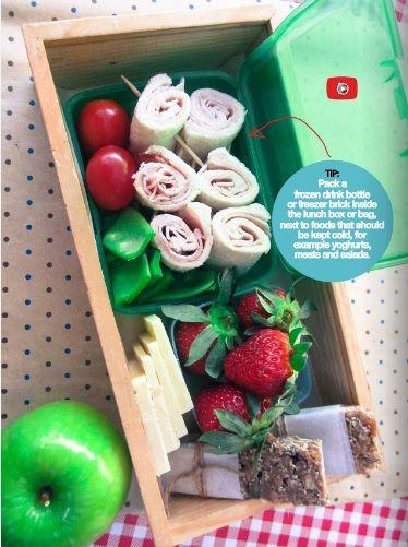 ham pinwheels - pg 12 in the Kidspot lunchbox flipbook
