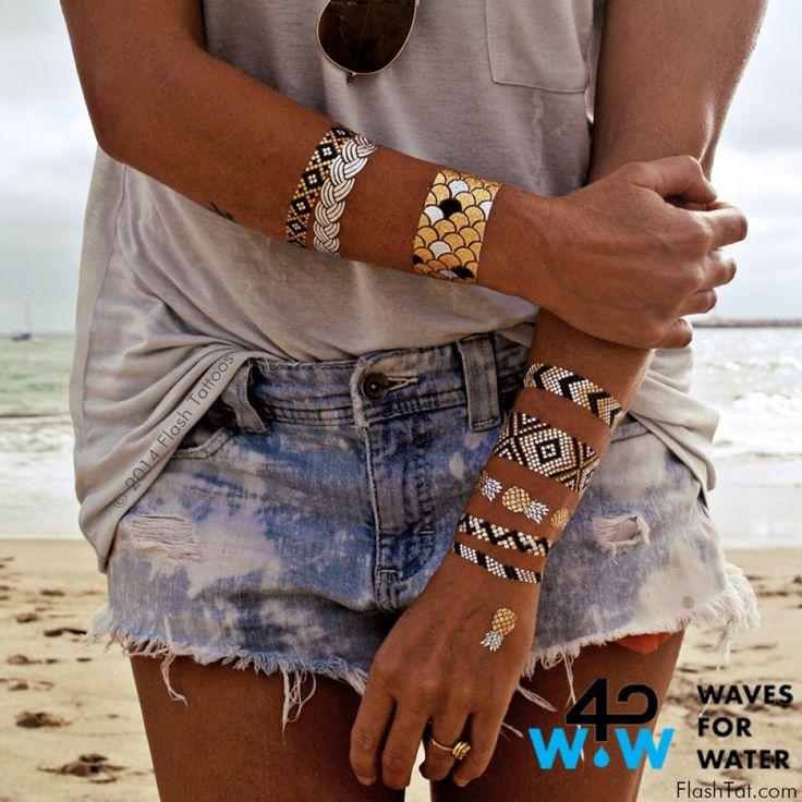 Nu online bij www.miss-p.nl Flash tattoos zijn de nieuwste must have en zijn de perfecte accessoire op het strand, zwembad, feesten, festivals en concerten.