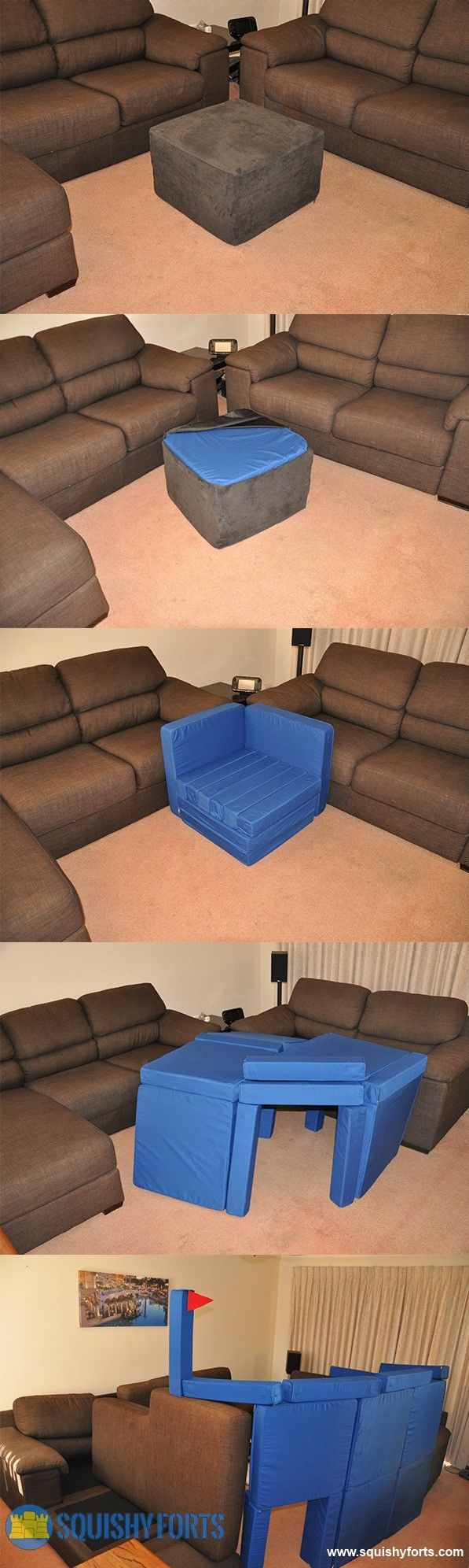 Coolest Thing Ever A Foot Stool That Is Actually Pillow Fort Construction Kit Cause Aunt Megs House Will Be The Place
