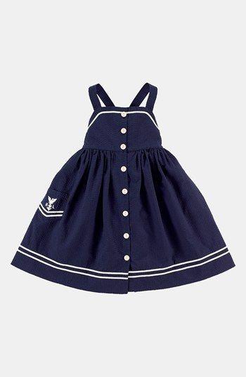 Ralph Lauren Seersucker Dress (Toddler Girls) available at #Nordstrom