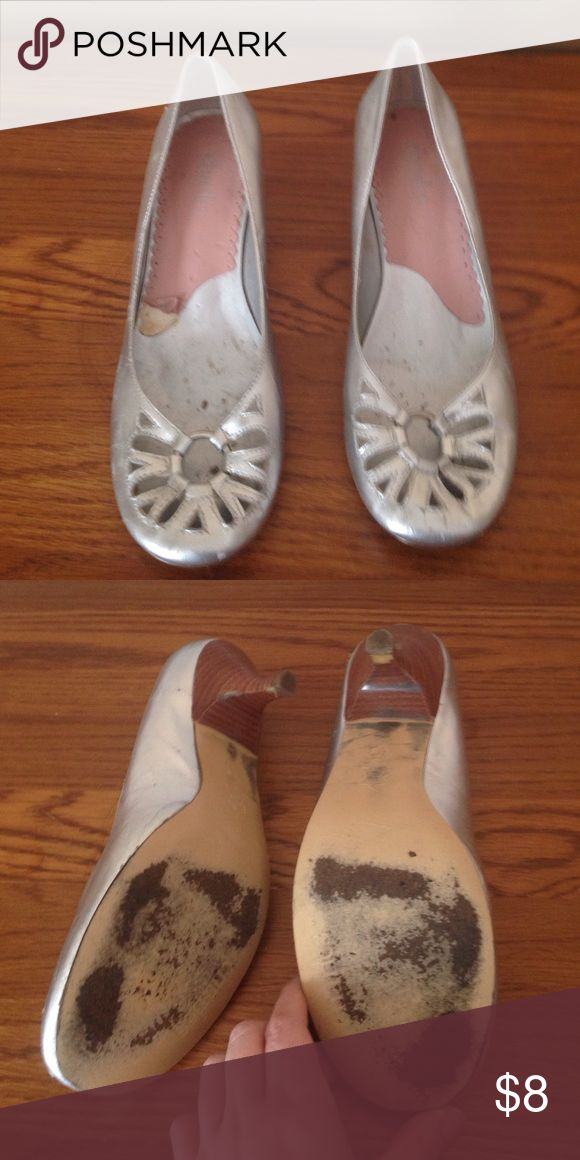 Charles David silver heels size 7 In used Charles by Charles David silver heels size 7 Charles David Shoes Heels