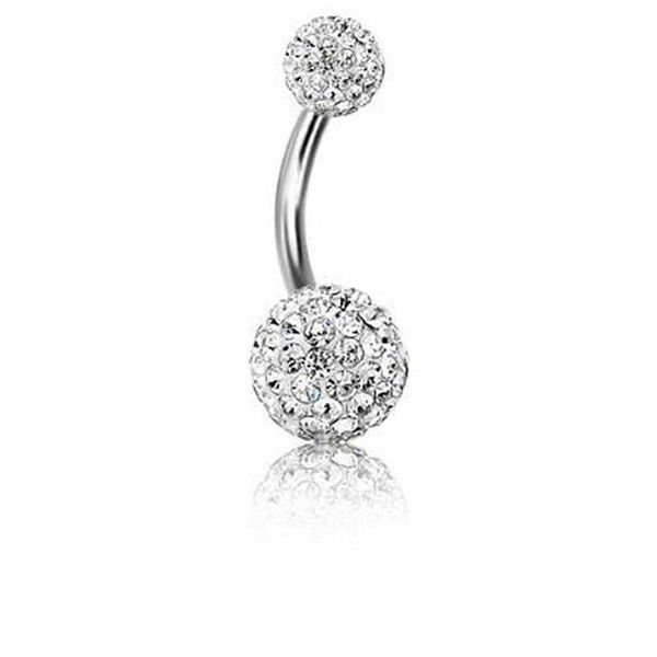 Bling Jewelry Diamond Ball Charmer Body Jewelry ($11) ❤ liked on Polyvore featuring jewelry, piercings, belly button ring, belly rings, body jewelry, body-piercing-rings, clear, diamond jewellery, diamond jewelry and clear jewelry