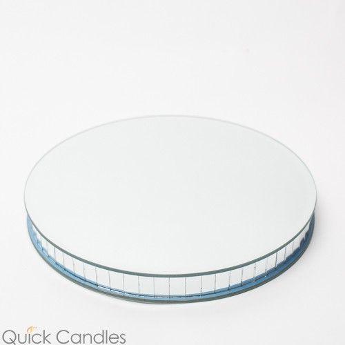 """Richland 10"""" Round Mirrored Stand"""