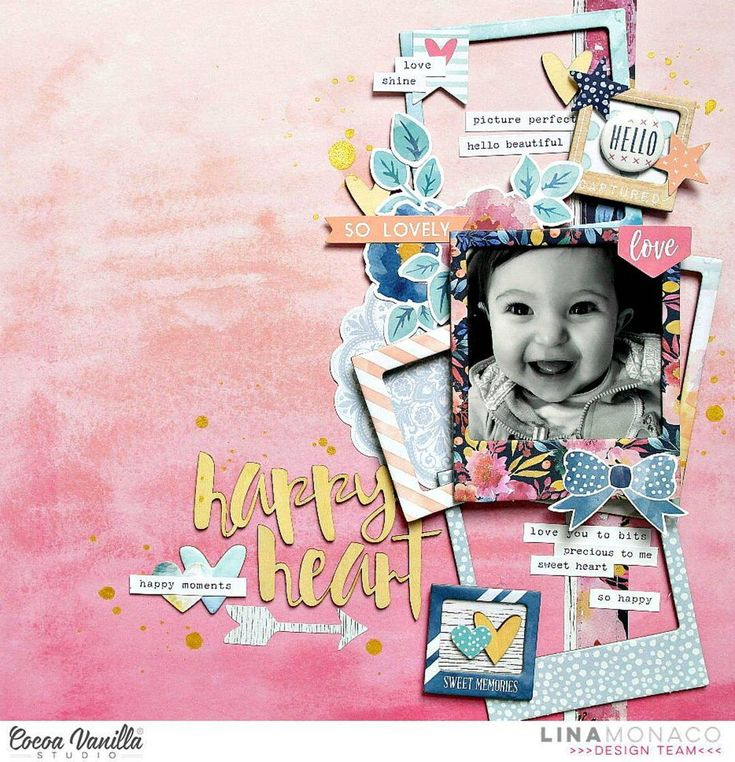 420 отметок «Нравится», 11 комментариев — Cocoa Vanilla Studio Zoe Pearn (@cocoa_vanilla_studio) в Instagram: «Lina is up on our blog today with a super sweet Wild at Heart layout to share. She has used our new…»