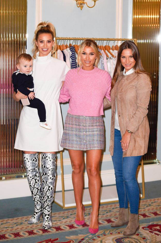 10e306c96cc5 Sam Faiers and Ferne McCann put feud aside at Billie s baby clothing line  launch