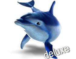 5      Новый увлекательный слот Dolphin's Pearl Deluxe (Дельфин Deluxe) Подводный мир таит в себе не только красивые существа, но и драгоценные жемчужины. У вас есть возможность отправиться в охоту за ними, не выходя из дома, запустив игровой автомат Dolphins' Pearl Deluxe бесплатно онла