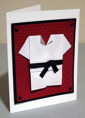 Craft Therapy with Crystal: Karate Birthday Card