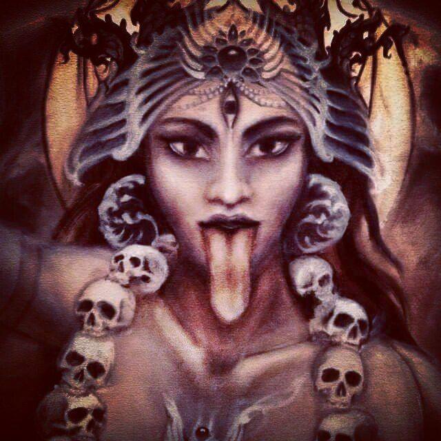 Goddess Kali in her wrathful form...