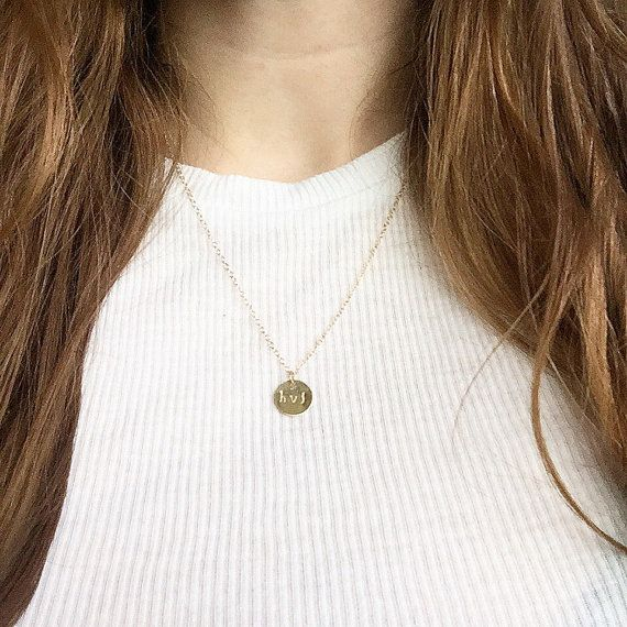 Personalised initial necklace | Handmade jewellery | 14k gold filled & sterling silver