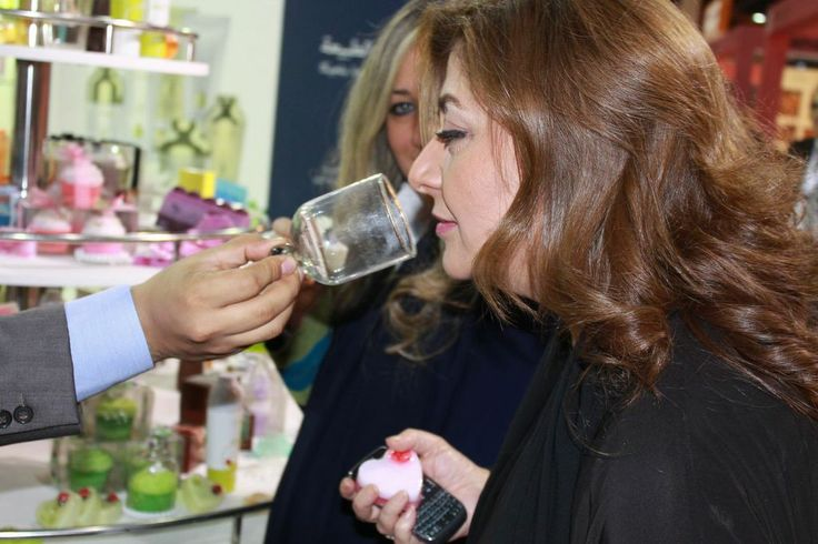 Divine scents were filling up the air at the Saudi health and beauty show in Jeddah because of our soaps and personal care products