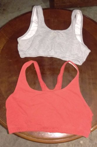 2-Sports-Bras-Red-and-Gray-Medium