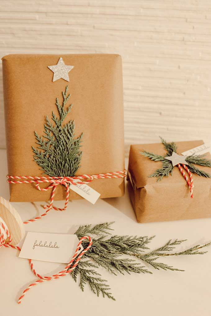 Natural Holiday Gift Wrap With Greenery Hallstrom Home Vintage Christmas Wrapping Paper Simple Gift Wrapping Gift Wrapping