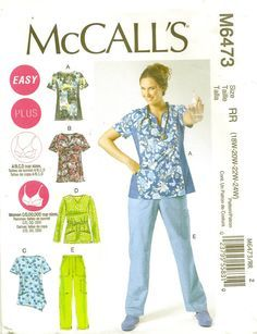Uniform Pattern by McCall's Plus Sizes 18-24 TLC's Treasureshttps://www.etsy.com/listing/166304407/uniform-pattern-by-mccalls-plus-sizes-18?