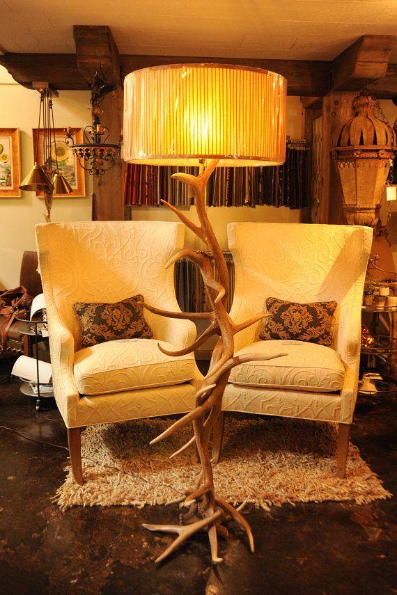 Antler Lighting Floor Lamp Elk Antler Floor by BreedloveDesigns, $900.00