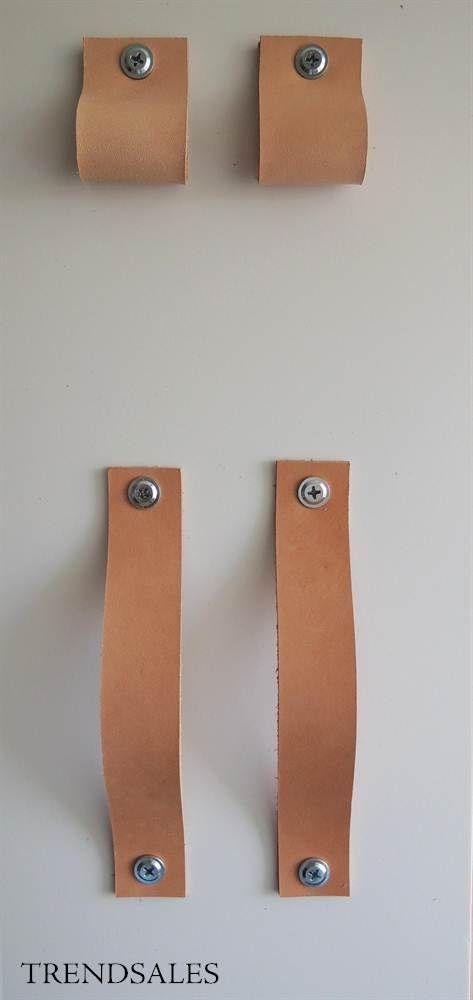 Eget Design - Lædergreb. Skuffegreb. Kernelæder stropper. Håndtag.