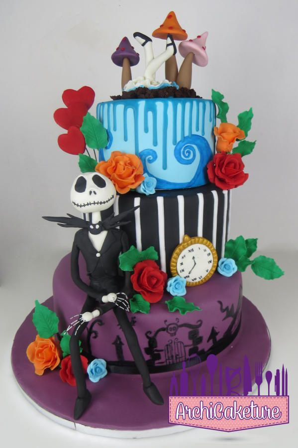 <3 <3 <3 TIM BURTON CAKE <3 <3 <3 - cake by Archicaketure_Italia