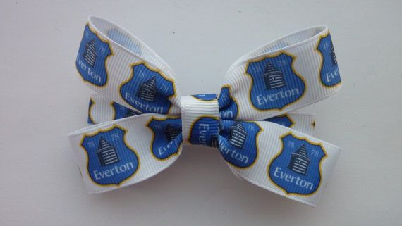 Everton Football Club hair bow by Youaresocute on Etsy