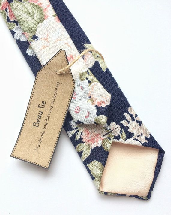 Hey, I found this really awesome Etsy listing at https://www.etsy.com/listing/278960642/floral-tie-navy-blue-skinny-tie-blush