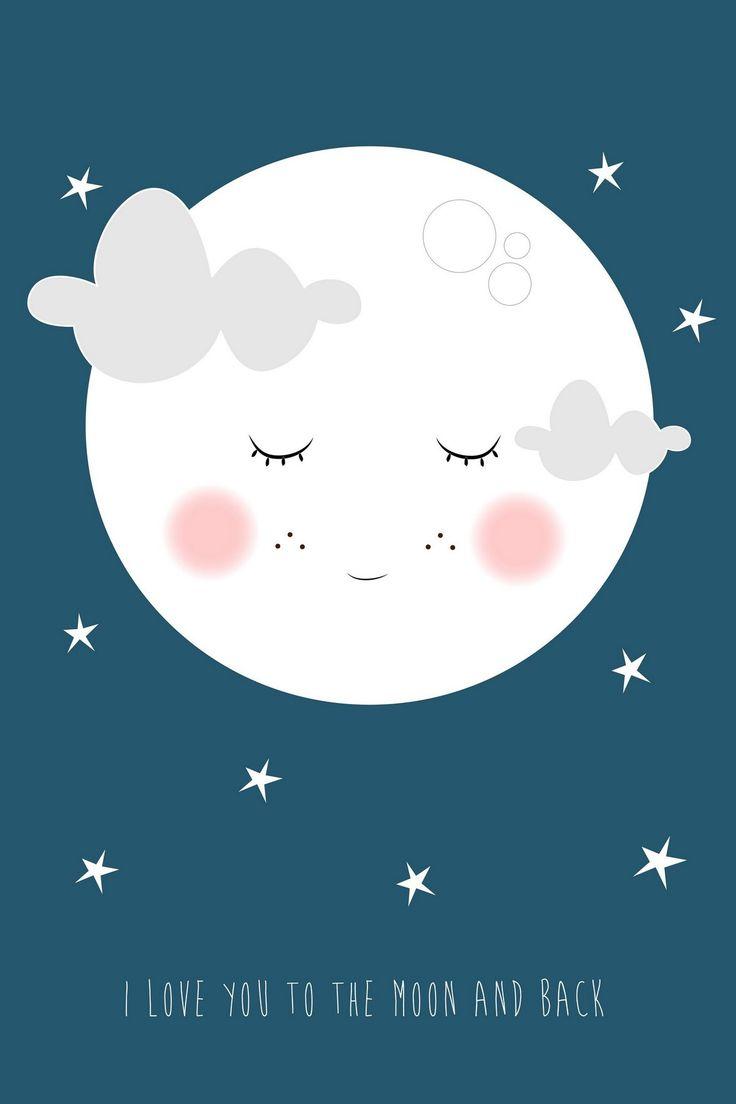 Funny face moon