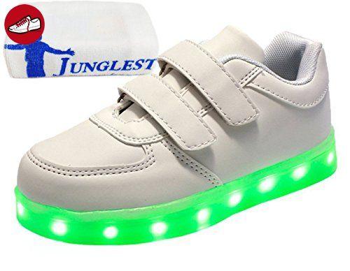 [Present:kleines Handtuch]Weiß EU 28, Schuhe Blinken Sportsschuhe Sneaker Jungen JUNGLEST® Kinder Turnschuhe LED Leuchtend Mädchen USB-Lade Fluore (*Partner-Link)