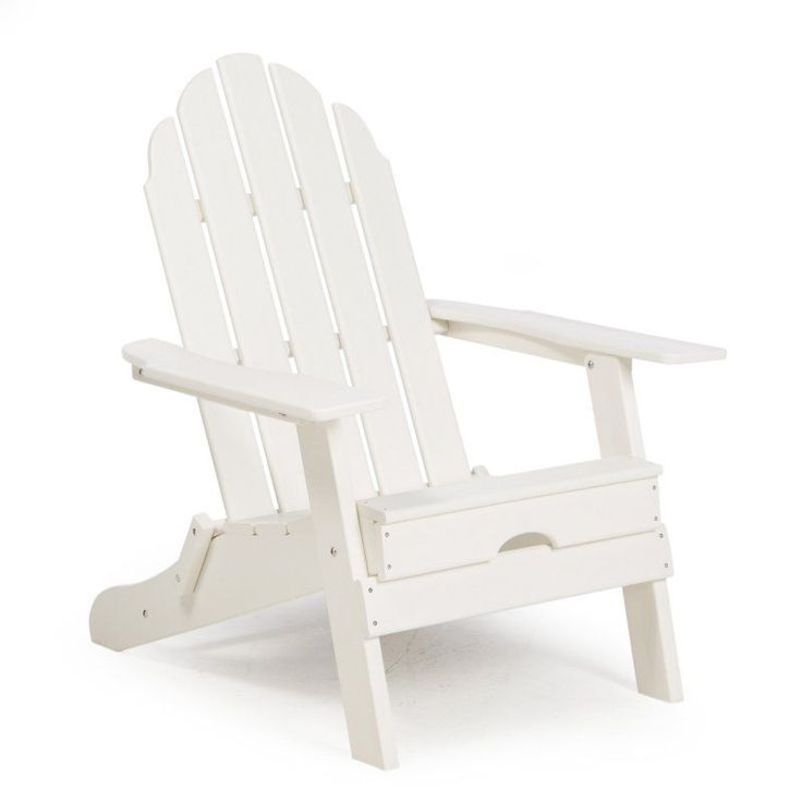 Outdoor Belham Living Belmore Recycled Plastic Folding Adirondack Chair White - HZXMFC38 WHITE