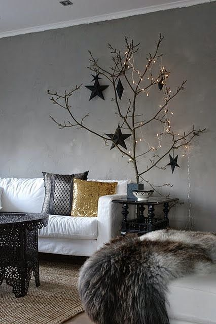 Scandinavische kerst interieurs