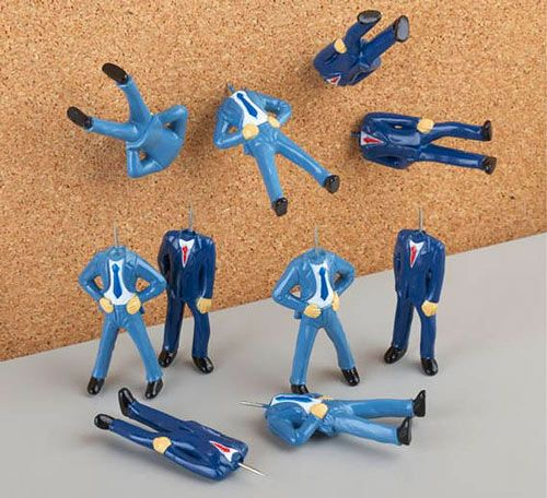 """Forget about boring old pushpins, and spruce up your office bulletin board with these Pinhead Pushpins! Perfect for """"sticking it to the man""""!!"""