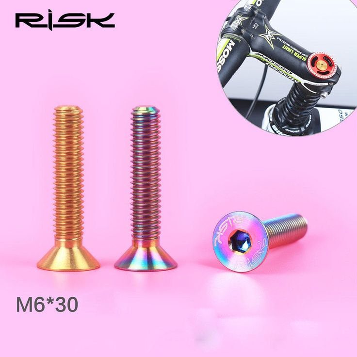 [Visit to Buy]  M6x30mm Bike Headset Bolts  MTB Road  Bicycle Titanium Ti Stem Top Cap Column Cover Screws Accesorios para bicicletas #Advertisement