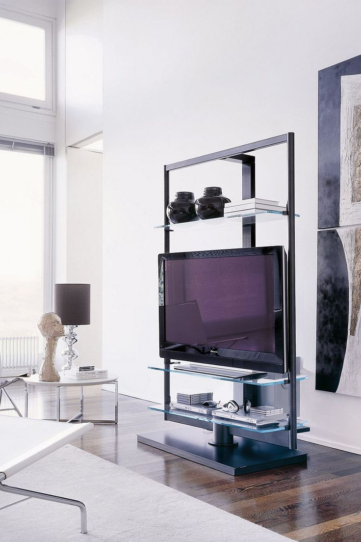 78 ideas about modern tv stands on pinterest mid - What size tv to get for living room ...