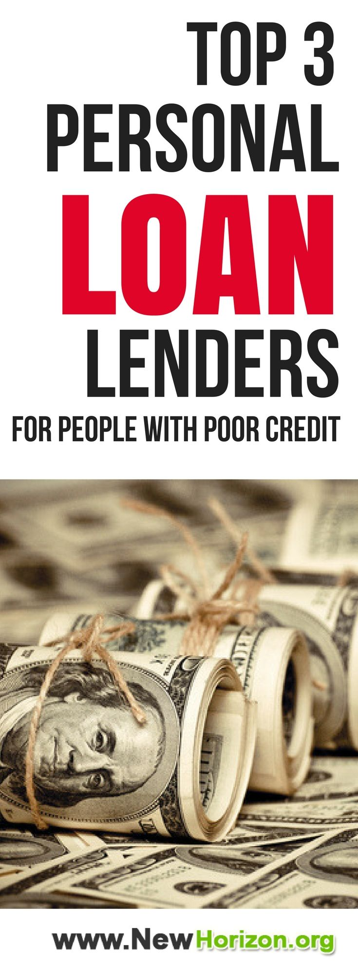 Need money but got a problem with your credit score? Here are top 3 personal loan lenders that can HELP YOU with your financial needs even with your poor credit history.