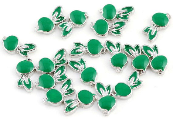 Vegetables Radish floating Charms for Living Lockets Glass