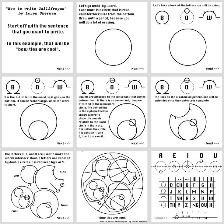 How to Write in Gallifreyan in 9 Easy Steps... this is taking my inner geek girl to a whole new level