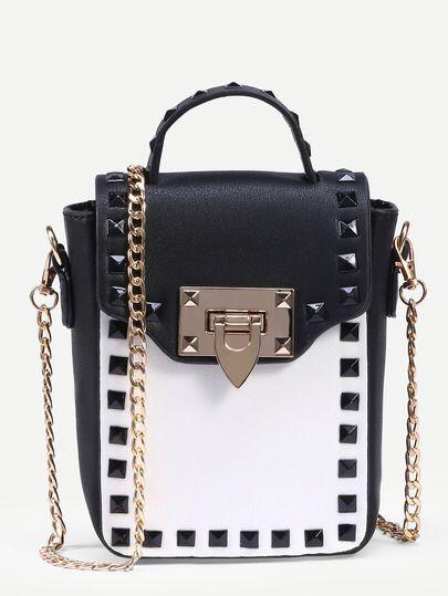 Handtasche mit Nieten besetzt - kontrastfarbig Only 16.38€