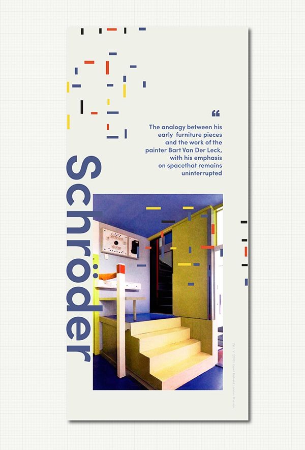 Gerrit Rietveld Posters #Modern #Schroderhouse #Architecture #Archdaily #Stairs