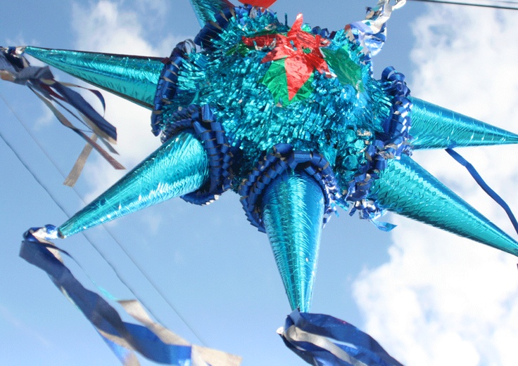 Piñata for Posadas (Christmas) in the traditional star shape I Photo from: Dieggo Garciaa