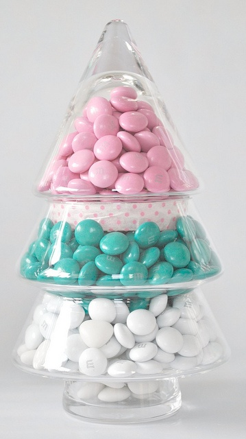 Candy filled Christmas tree jar