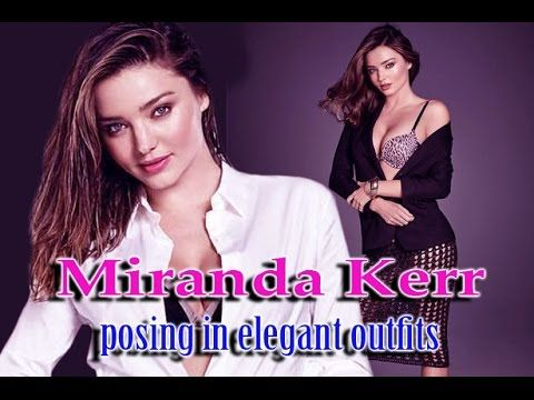 Miranda Kerr ~ posing in elegant outfits, offering just a glimpse of her...