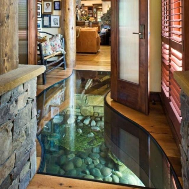 Glass floor over river..what