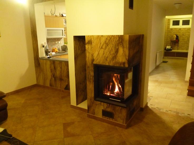 Fireplace stone design