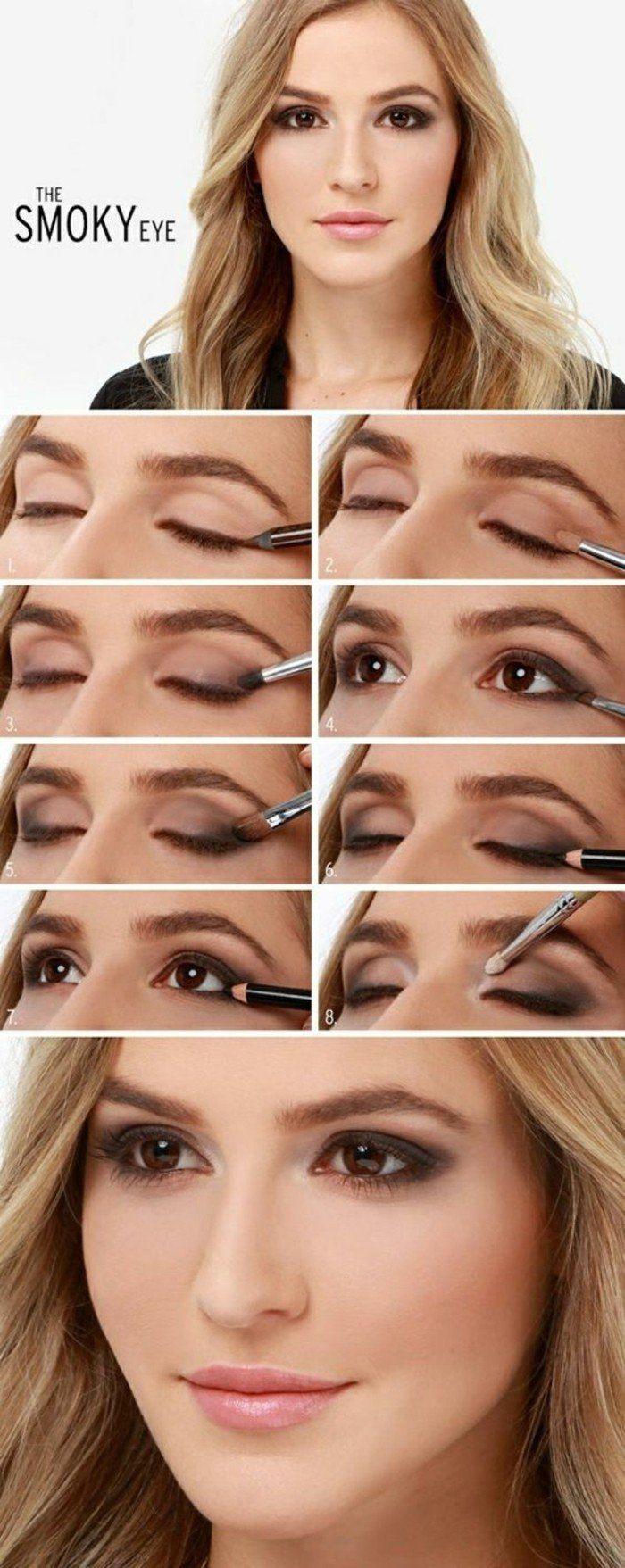 technique de maquillage apprendre a se maquiller les yeux cheveux blonds yeux marrons