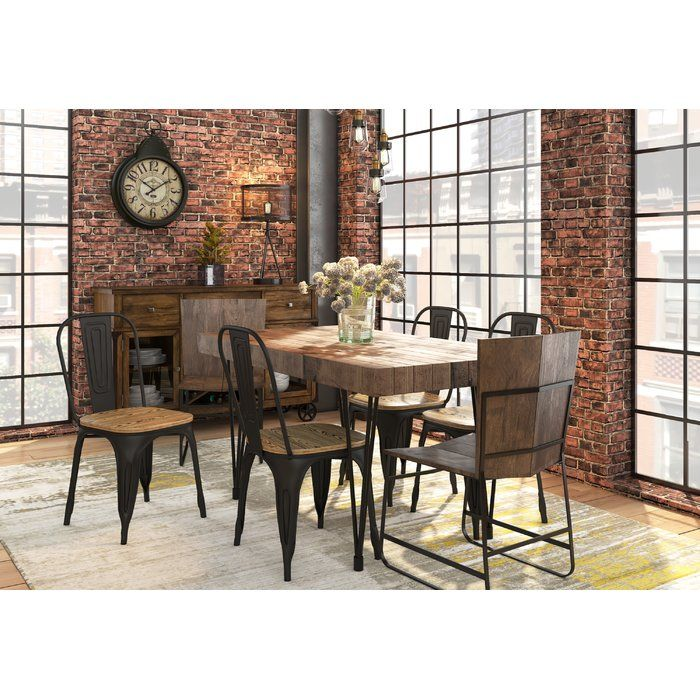 Okemah Solid Wood Dining Table Dining Table Solid Wood Dining